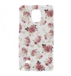 Гръб мек шарен/бутиков Samsung Galaxy N910 Note 4 цветя