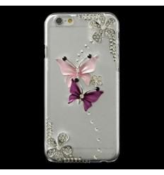 Луксозен гръб с кристали Пеперуди iPhone 6