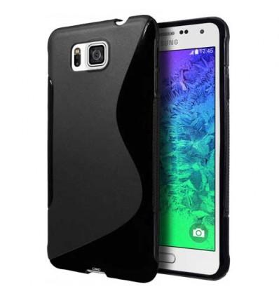 Гръб силикон S-Line Samsung G850 Galaxy Alpha черен