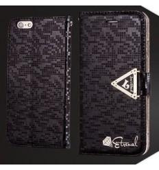 Луксозен страничен флип Leiers Black iPhone 6