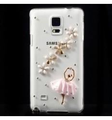 Луксозен гръб с кристали Балерина Samsung Galaxy N910 Note 4