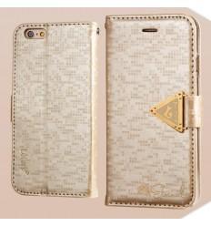 Луксозен страничен флип Leiers Gold iPhone 6