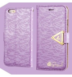 Луксозен страничен флип Leiers Purple iPhone 6