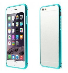 Стилен метален бъмпер iPhone 6  син