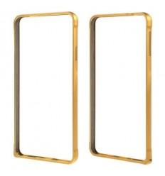 Стилен метален бъмпер Love Mei златен Samsung G850 Galaxy Alpha