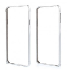 Стилен метален бъмпер Love Mei сребърен Samsung G850 Galaxy Alpha
