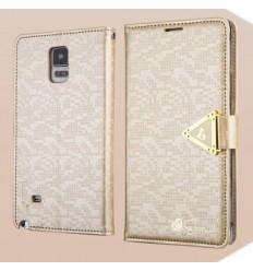 Луксозен страничен флип Leiers Black Samsung Galaxy N910 Note 4