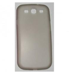 Гръб PC case мек мат Samsung i9300 S3 сив