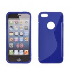 Гръб силикон S-Line iPhone 5G: blue