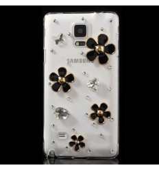 Луксозен гръб с кристали Цветя Samsung Galaxy N910 Note 4