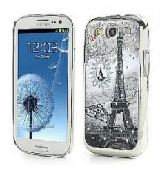 Гръб твърд шарен/бутиков с камъни за Samsung i9300 Galaxy S3