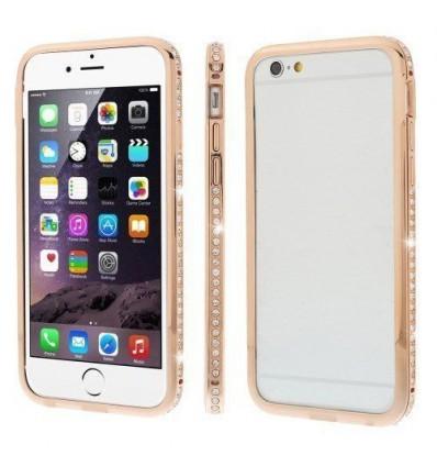 Луксозен бъмпер с кристали iPhone 6 Plus  gold