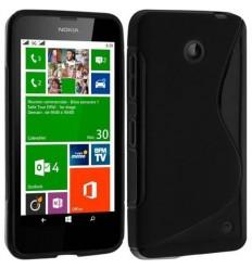 Силиконов калъф | заден капак | гръб S-Line Nokia Lumia 630 черен