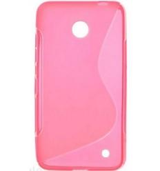 Силиконов калъф | заден капак | гръб S-Line Nokia Lumia 630 розов