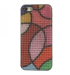Луксозен гръб с кристали Colorful Circles iPhone 5s 5
