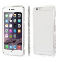 Луксозен бъмпер с кристали iPhone 6 Plus  silver