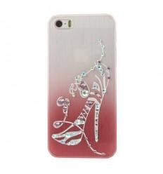 Луксозен гръб с кристали High-heels червен iPhone 5s 5