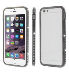 Луксозен бъмпер с кристали iPhone 6 Plus  черен